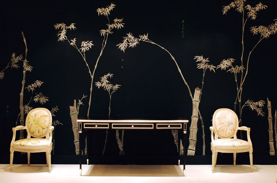 De gournay chinoiseries vintage chic peque as - Papeles pintados japoneses ...