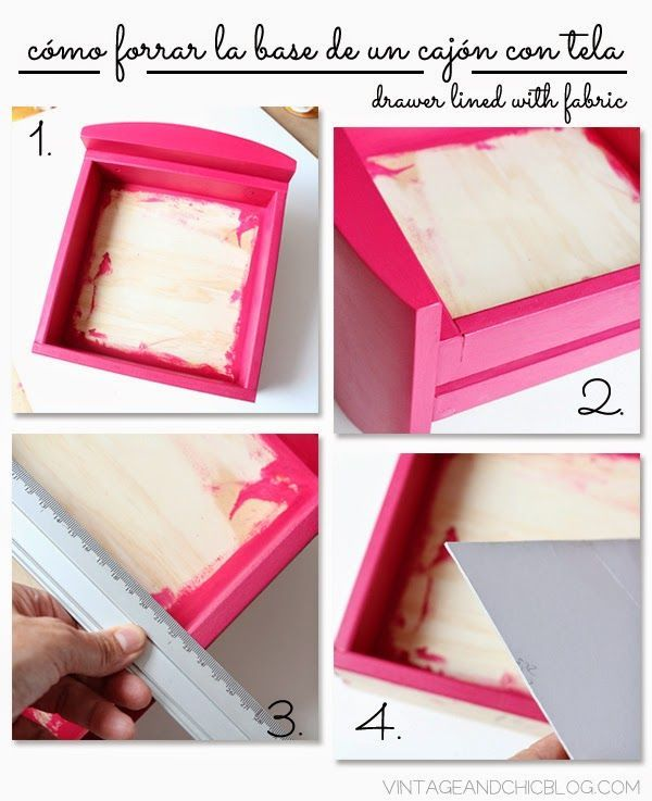 tutorial para forrar cajones con tela drawers lined with fabric